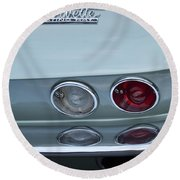 1966 Chevrolet Corvette Tail Light 2 Round Beach Towel