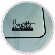 1966 Corvette Sting Ray Round Beach Towel