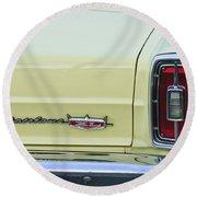 1966 Ford Fairlane Xl Taillight Emblem Round Beach Towel