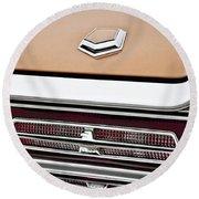 1966 Ford Thunderbird Round Beach Towel by Gordon Dean II