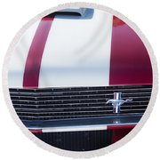 1966 Red Ford Mustang Shelby Gt350 Front Round Beach Towel