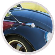 1966 Volkswagen Vw Convertible Bug Round Beach Towel
