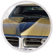 1967 Bronze Pontiac Firebird  Round Beach Towel