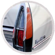 1967 Cadillac Coupe Deville Taillight Round Beach Towel
