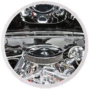 1967 Chevrolet Chevelle Ss Engine 2 Round Beach Towel