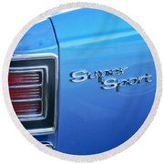 1967 Chevrolet Chevelle Super Sport Taillight Emblem Round Beach Towel