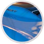1967 Chevrolet Corvette 427 Hood Emblem Round Beach Towel