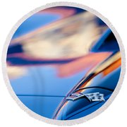 1967 Chevrolet Corvette Hood Emblem Round Beach Towel