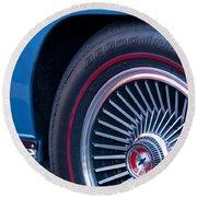 1967 Chevrolet Corvette Wheel 2 Round Beach Towel