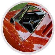 1967 Ferrari 275 Gtb4 Coupe Round Beach Towel