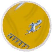 1967 Ferrari 275 Gtb4 Emblem 3 Round Beach Towel