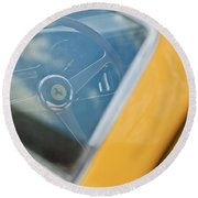 1967 Ferrari 275 Gtb4 Steering Wheel Round Beach Towel