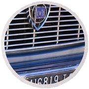 1967 Lancia Fulvia Berlina Grille Emblem Round Beach Towel