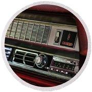 1967 Oldsmobile Cutlass 4-4-2 Dashboard Round Beach Towel