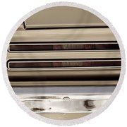 1967 Pontiac Firebird Back Lights Close Up Round Beach Towel