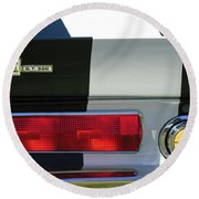 1967 Shelby Gt500 Fastback Taillight Emblem Round Beach Towel