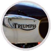 1967 Triumph Bonneville Gas Tank 1 Round Beach Towel
