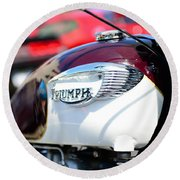 1967 Triumph Gas Tank 3 Round Beach Towel