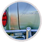 1967 Volkswagen Vw Karmann Ghia Taillight Emblem Round Beach Towel