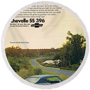 1968 Chevrolet Chevelle Ss 396 - It'd Be A Big Mover On Looks Alone. Round Beach Towel