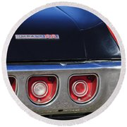 1968 Chevrolet Impala Ss Taillight Emblem Round Beach Towel