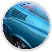 1968 Ford Mustang Fastback  Profile Round Beach Towel
