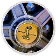 1968 Ford Shelby Gt500 Kr Convertible Wheel Emblem Round Beach Towel
