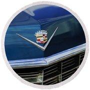 1969 Cadillac Hood Emblem Round Beach Towel