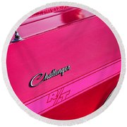 1970 Dodge Challenger Rt 440 Six Pack - Tickled Pink Round Beach Towel