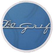 1970 Iso Rivolta Grifo Emblem 3 Round Beach Towel