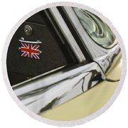 1970 Jaguar Xk Type-e Emblem Round Beach Towel