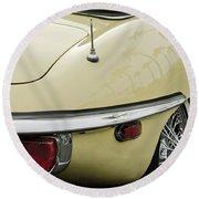 1970 Jaguar Xk Type-e Taillight 2 Round Beach Towel