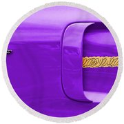 1970 Plum Crazy Plymouth Road Runner Round Beach Towel