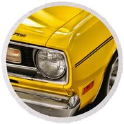 1970 Plymouth Duster 340 Round Beach Towel