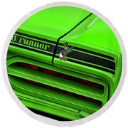1970 Plymouth Road Runner - Sublime Green Round Beach Towel