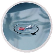 1971 Chevrolet Corvette Gas Cap Emblem Round Beach Towel