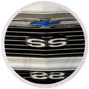 1971 Chevrolet Nova Ss350 Grille Emblem Round Beach Towel