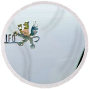 1971 Iso Grifo Can Am Emblem Round Beach Towel