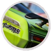 1971 Plymouth Duster Twister Round Beach Towel
