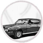 1971 Pontiac G T O Round Beach Towel