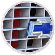 1972 Chevrolet C10 Grille Emblem Round Beach Towel