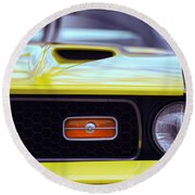 1972 Ford Mustang Mach 1 Round Beach Towel