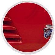 1972 Maserati Ghibli 4.9 Ss Spyder Emblem Round Beach Towel