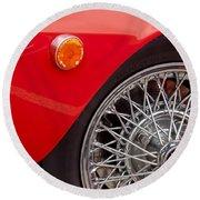 1972 Maserati Ghibli 4.9 Ss Spyder Wheel Round Beach Towel