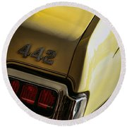 1972 Oldsmobile 442 Round Beach Towel
