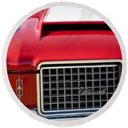 1972 Oldsmobile Grille Round Beach Towel