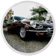 1973 Jaguar Type E Fantasy  Round Beach Towel