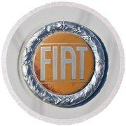 1977 Fiat 124 Spider Emblem Round Beach Towel