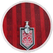 1988 Monte Carlo Ss Crest And Shield Emblem Round Beach Towel