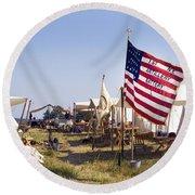 1st New York Artillery Round Beach Towel